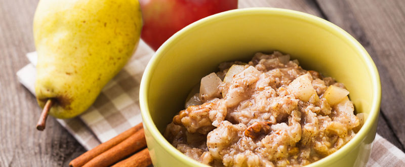 Apple and pear porridge