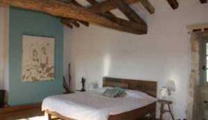 Large double room in Southern France fitness holiday accommodation