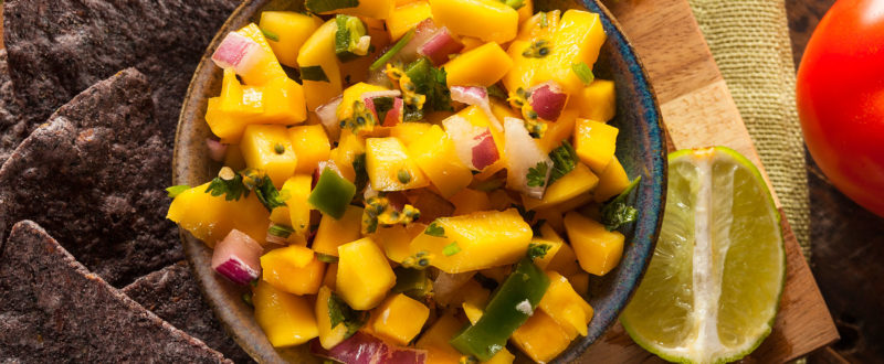 Mango and passion fruit salsa