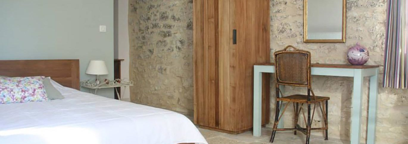 Rustic luxury hotel room called The Blue Room