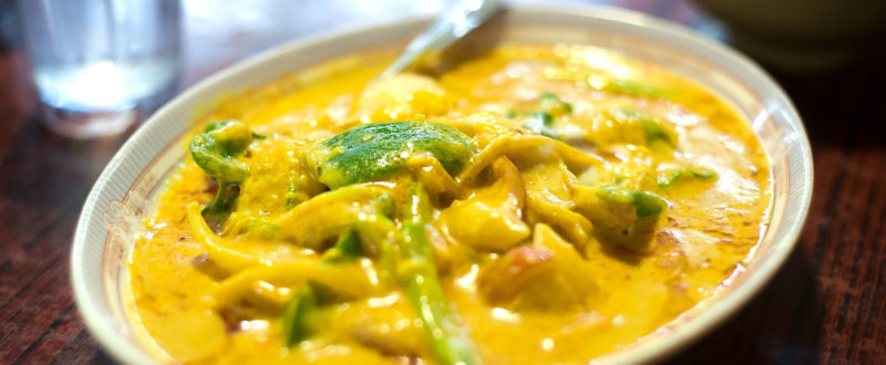 Thai yellow vegetable curry
