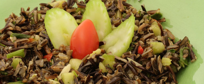 Healthy wild rice salad