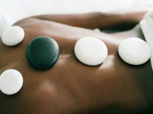 Luxurious hot stone massage