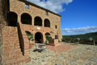 Courtyard at Cugnanello Tuscany
