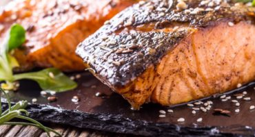 Lime and ginger marinated salmon