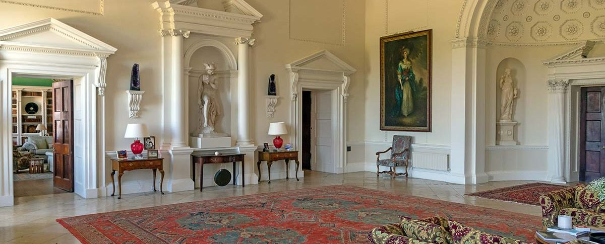 The Mercury statue in the Hall at Kirtlington Park