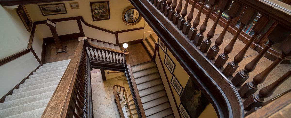 The staircase at Kirtlington Park